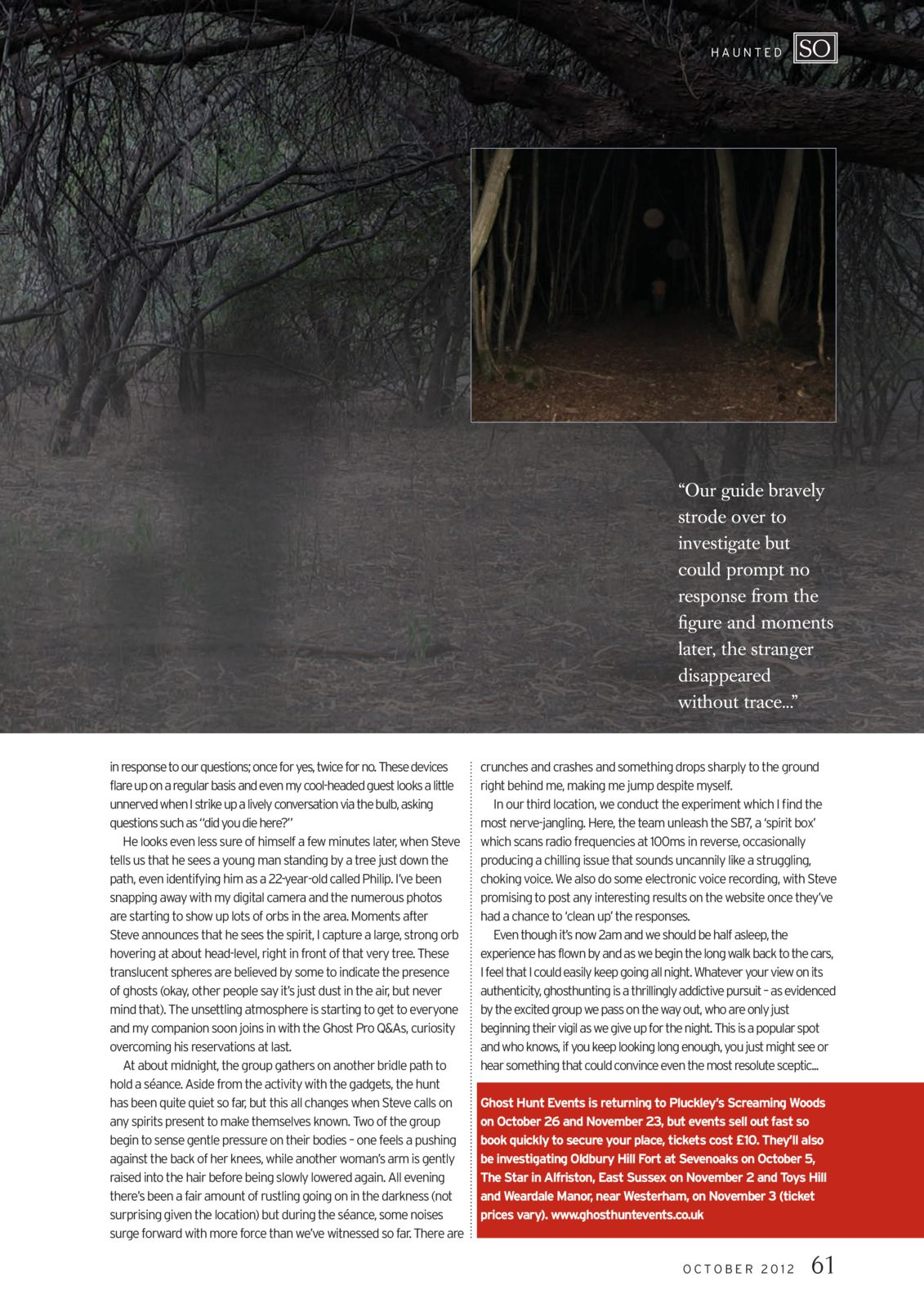 So Magazine - Pluckley Woods - Click to enlarge